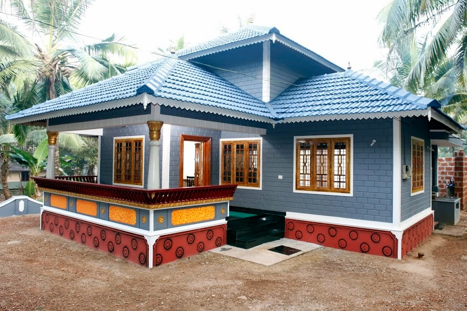 1171 sq ft beautiful low cost home design sweet home for Low cost house plans with estimate