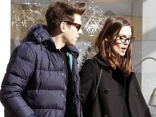 Keira Knightly and Husband Go Shopping in Retro Glasses