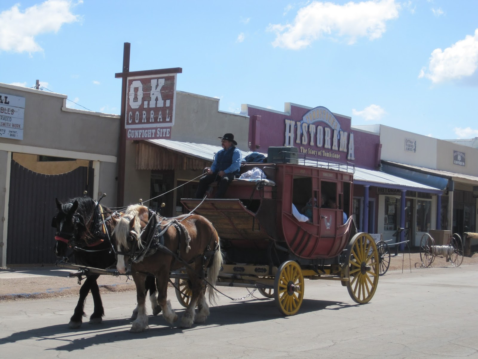 horse and carriage tour through the streets of tombstone az