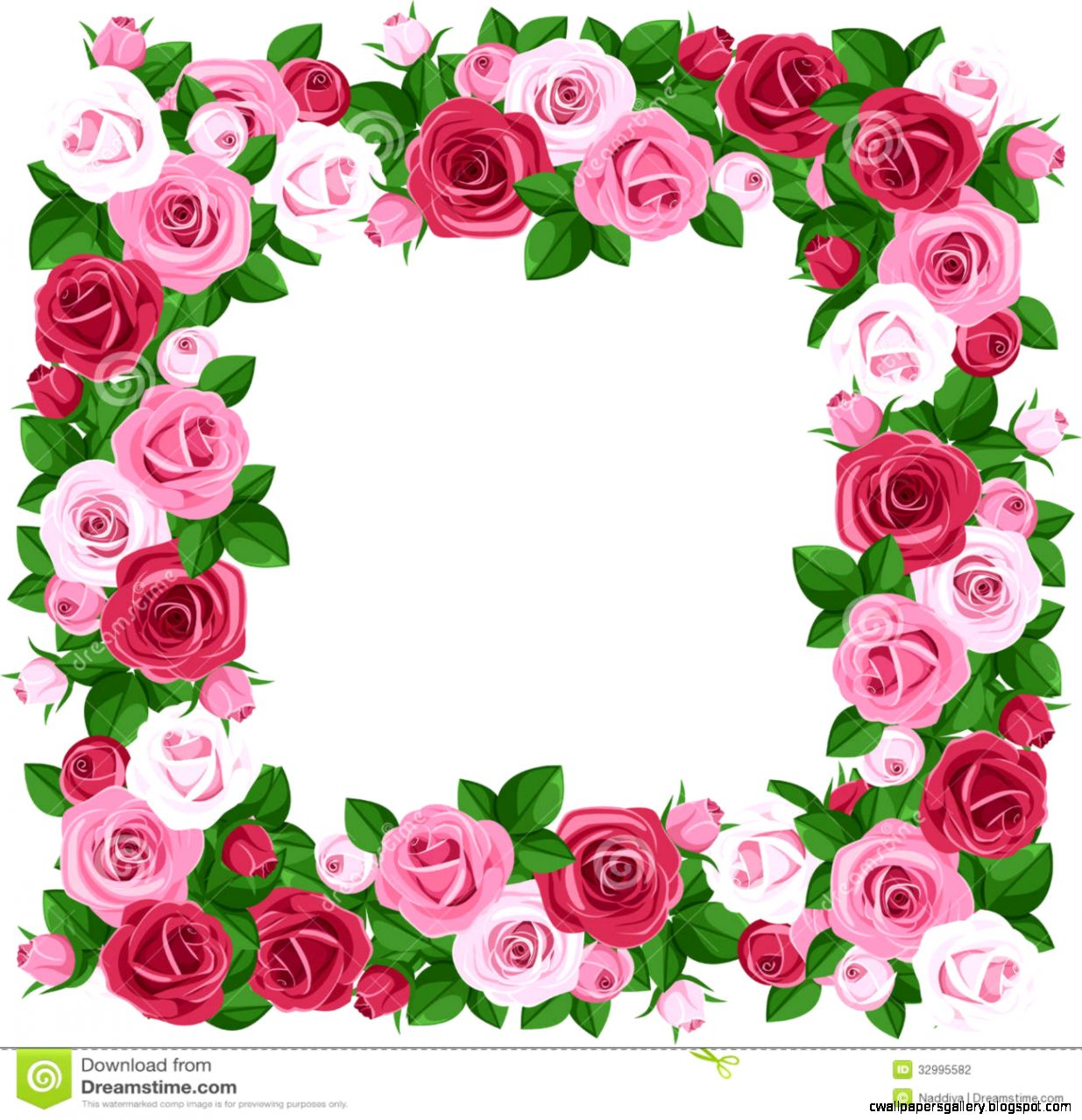 Pink Rose Border Clip Art  Clipart Panda   Free Clipart Images