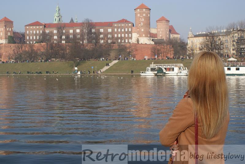 Widok na Wawel, bulwary wiślane Kraków
