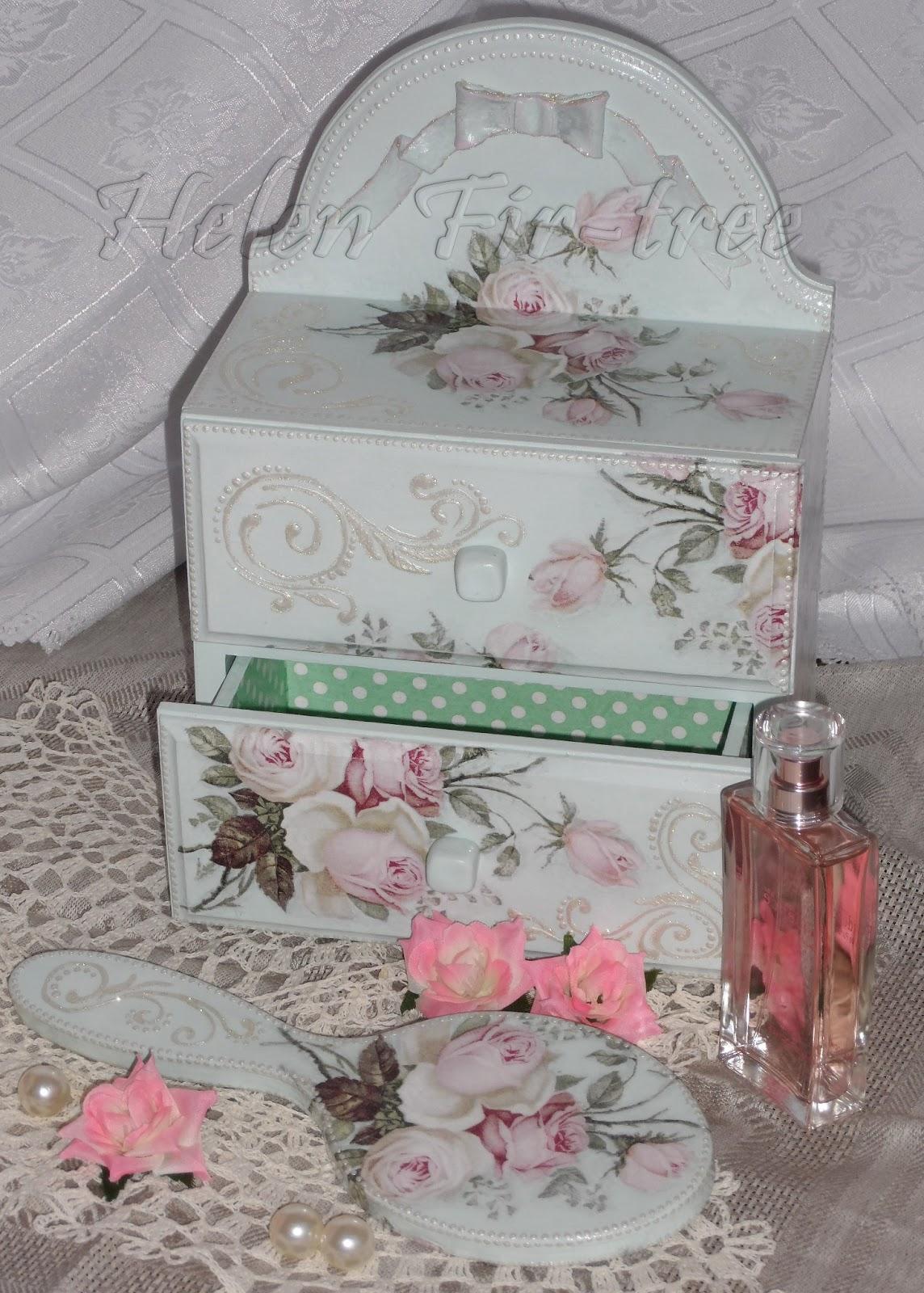 Helen Fir-tree декупаж зеркало букет роз decoupage mirror bouquet of roses