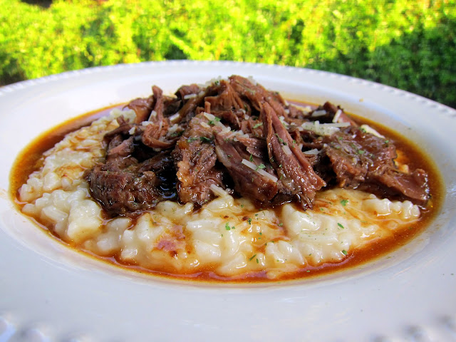 Italian Pot Roast over Parmesan Risotto - THE BEST pot roast! Pot ...