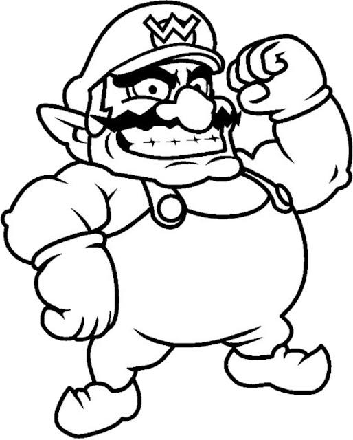 Desenho Super Mario Bros. para colorir