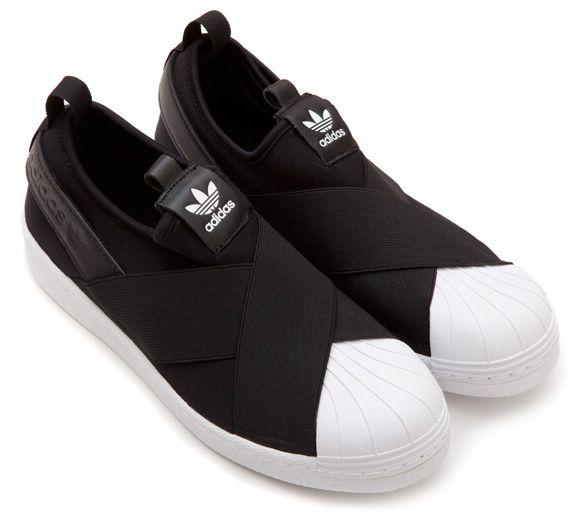 zapatillas adidas sin cordones negras