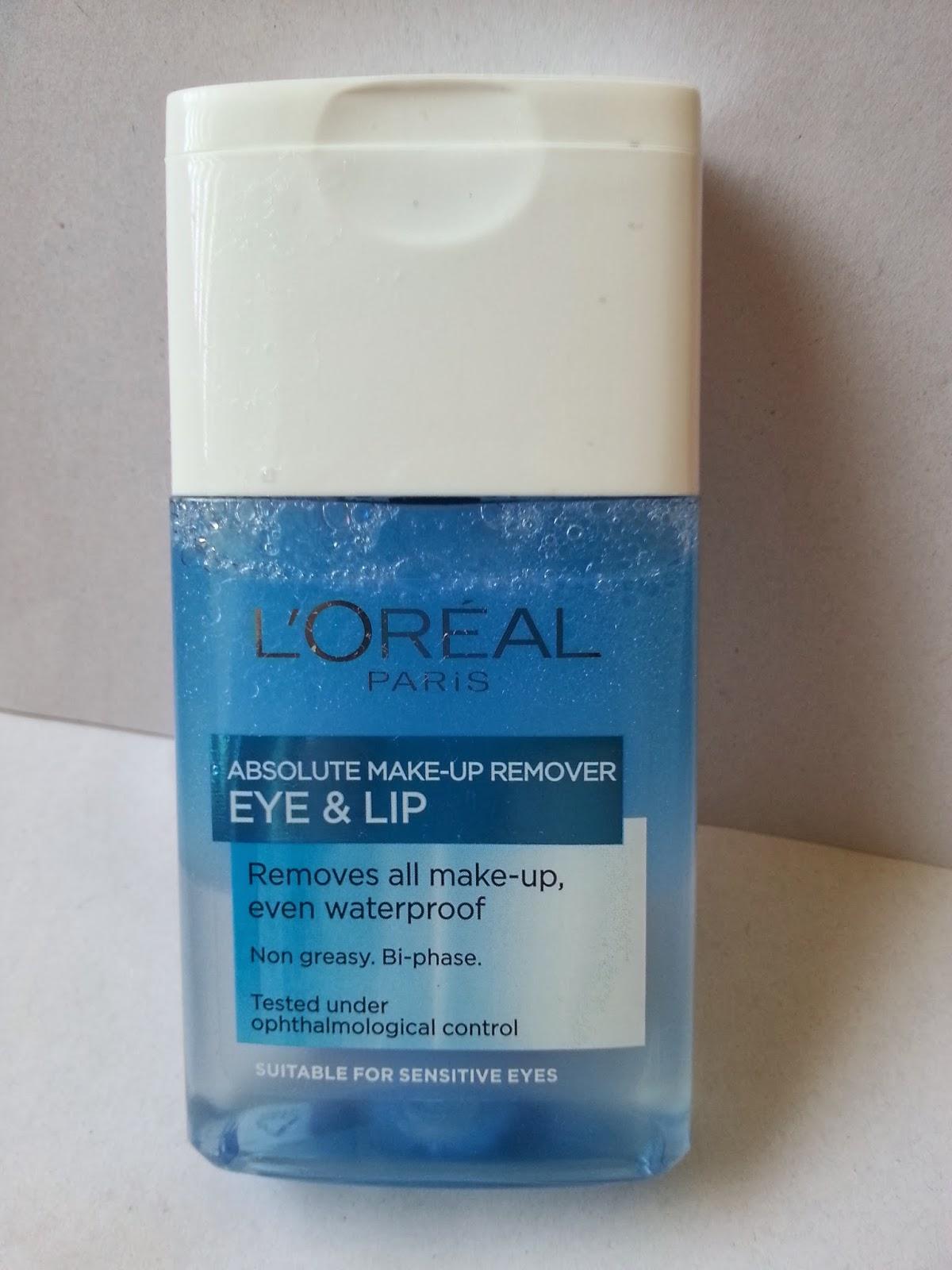 Loreal eye makeup remover