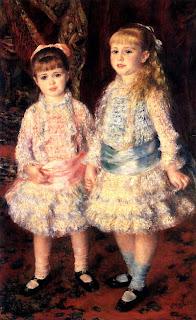 Quadro Rosa e Azul, de Renoir