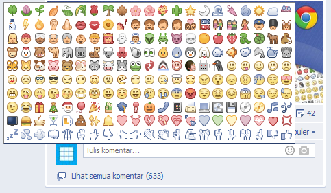 Cara Menambahkan Emotikon Unik Pada Komentar dan Obrolan Facebook