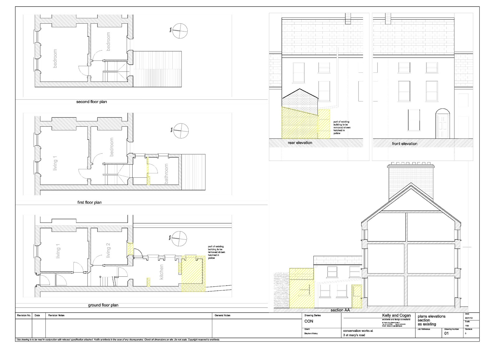 Georgian House Renovation - Dundalk, Louth, Ireland: Existing Plan ...