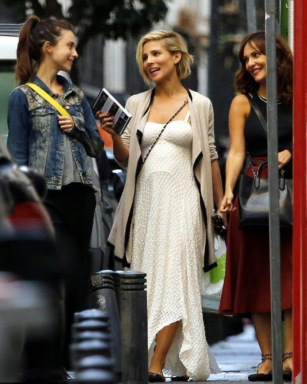 This is how the Hollywood actress walk! Elsa Pataky was seen strolling with her friends at the street in Madrid, Spain on Tuesday, September 23, 2014.