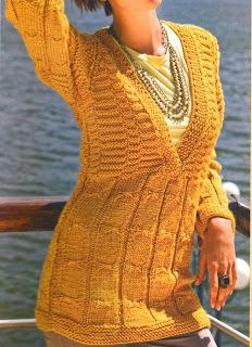 Jersey de punto en color  mostaza