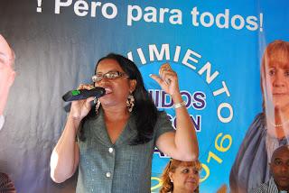 Martha García arrincona a peledeístas de Guerra