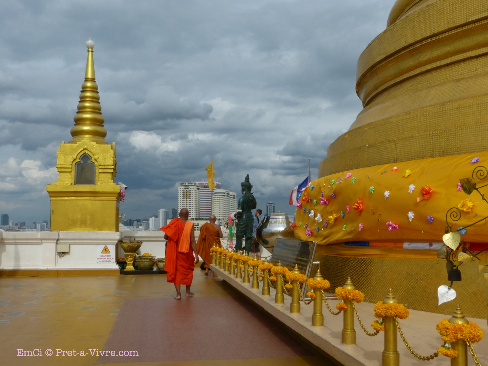 The Golden Mount temple or Wat Saket - where one can enjoy ...