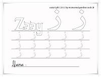 Belajar Menulis Huruf Hijaiyah Zaay