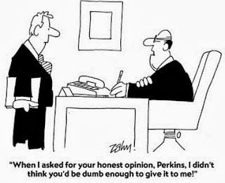 Honesty with Boss Humour cartoon