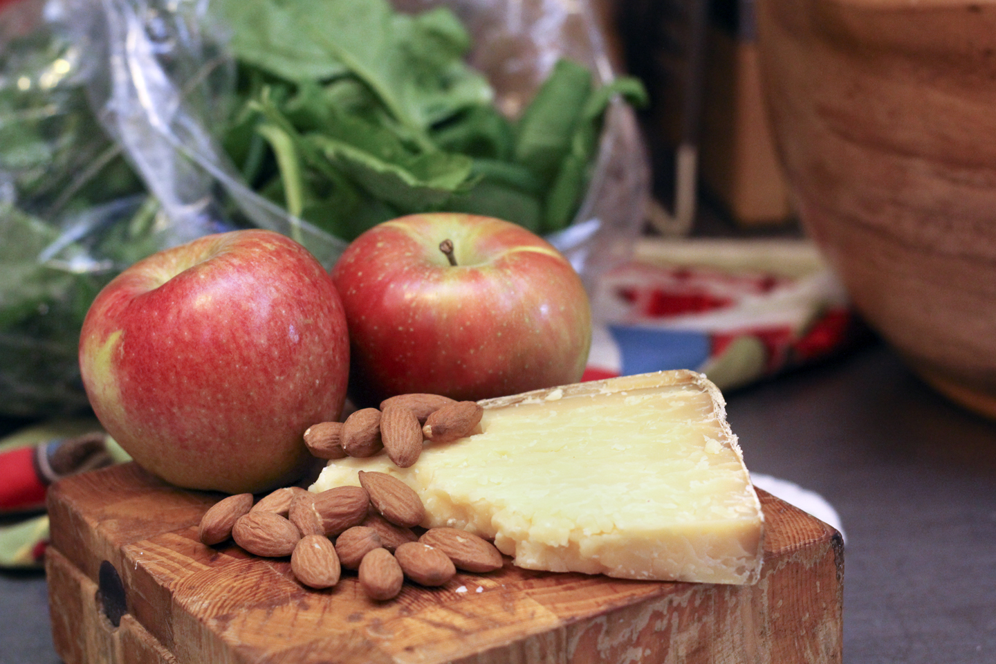 The Butcher and The Baker: Recipe: Spinach Salad with Apples & Cheddar
