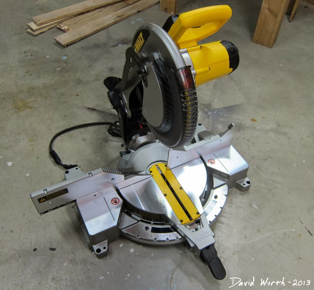 "12"" dewalt miter saw, table saw,"