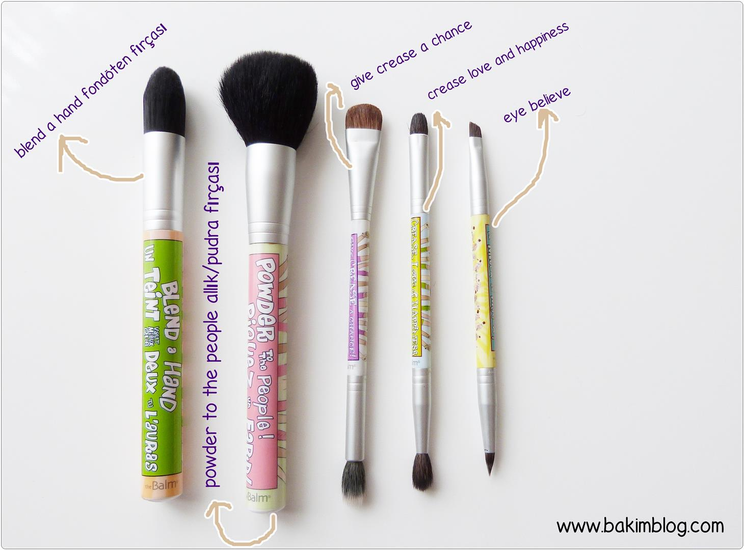 the balm powder to the people makeup brushes
