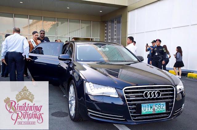 Pia arrives in Manila