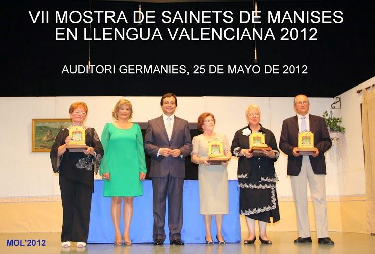 MOSTRA DE SAINETS DE MANISES EN LLENGUA VALENCIANA 2012