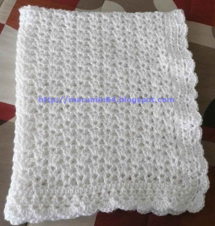 Marumin crochet manta r pida quick baby blanket - Manta de bebe a ganchillo ...
