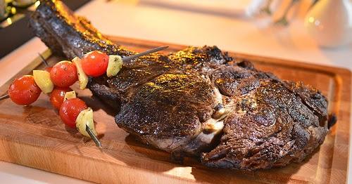 Street food cuisine du monde recette de c te de boeuf au barbecue comme au texas etats unis - Cuisson basse cote a griller ...