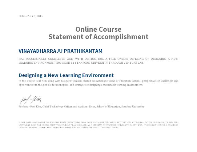 vinay's certificates