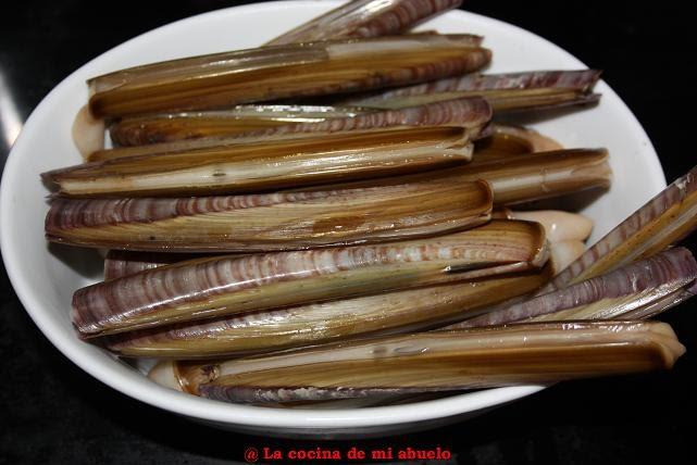 La cocina de mi abuelo navajas a la plancha for Como cocinar navajas frescas