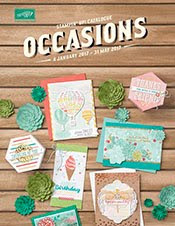 Stampin' Up! Holiday Occasions 4th January to 31st May 2017