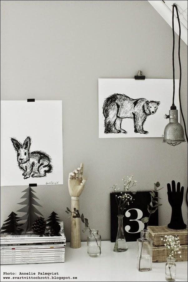 tavla, svartvita tavlor, svart och vitt, vita, svarta, motiv, konst, konsttryck, artprints, artprint, print, prints, poster, posters, konsttryck, kanin, kaniner, kaninen, isbjärn, julklapp, julklappstips, julen 2014, evighetskalender, barntavla, barntavlor, barnrum,