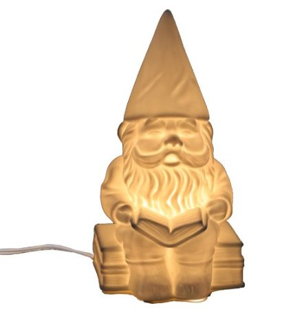 white Gnome lamp