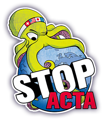 STOP ACTA say no to acta logo