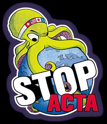 STOP ACTA say no to acta logo