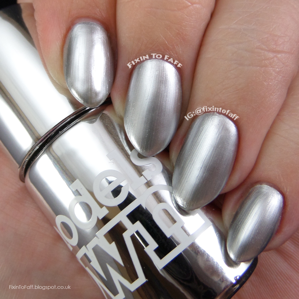Swatch and review of Models Own Colour Chrome collection, Chrome Silver