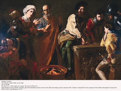 caravaggios the denial of st peter The denial of saint peter (la negazione di pietro) is a painting finished around 1610 by the italian painter caravaggioit depicts peter denying jesus after jesus was arrested the painting is housed in the metropolitan museum of art in new york city.