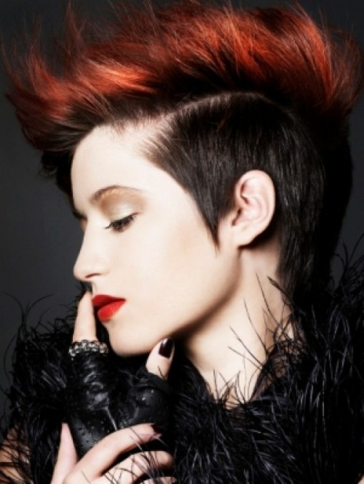 short punk hairstyles for women. The Mohawk short punk