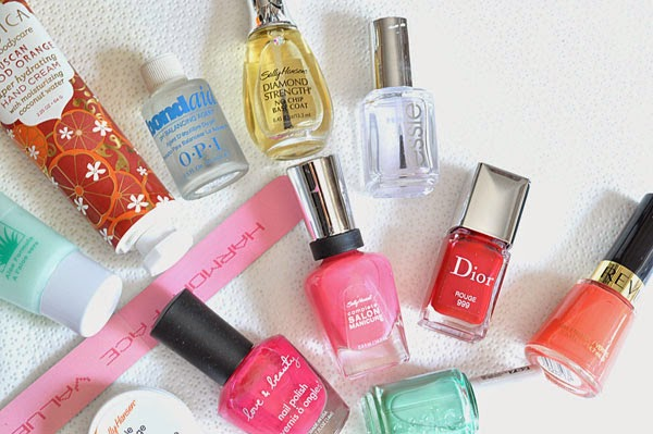 Pink Orange Red Coral and Blue Nail polish review beauty by sw beauty blogger
