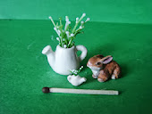 Зайчик и лейка. Bunny and watering can.