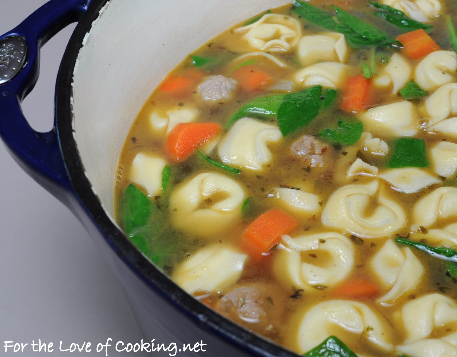 ... Love of Cooking » Turkey Italian Sausage and Cheese Tortellini Soup