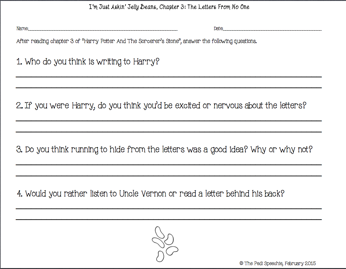 Uncategorized Harry Potter Worksheets the pedi speechie may 2015 please note i am in no way affiliated with book or author you must first purchase potter and sorcerers by j k rowling i