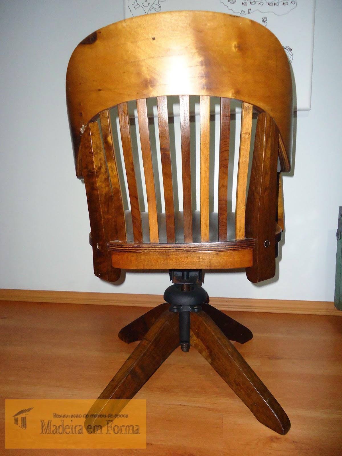 Restauração de Móveis de Época : Cadeira Cimo giratória  #B47717 1200x1600
