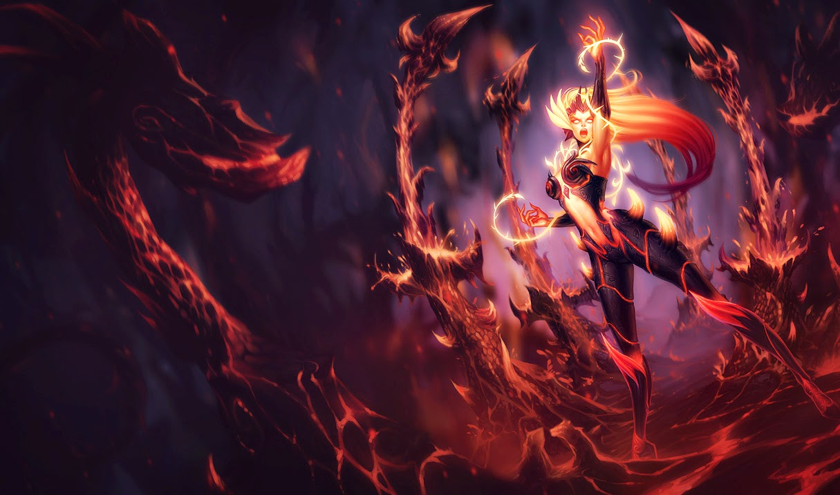 League of Legends Wallpaper Skin Fire