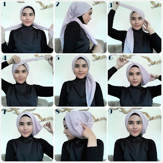 Cara Memakai Jilbab Modern Untuk Kebaya