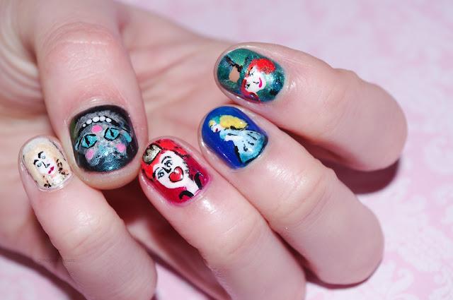 alice in wonderland nails image