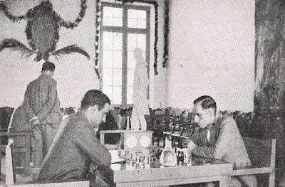 Partida José Sanz-Ángel Ribera en el Torneo Internacional de Ajedrez de Reus 1936