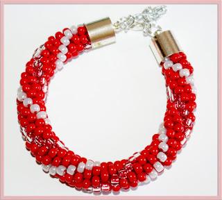 Czerwona  koralikowo -wężykowa