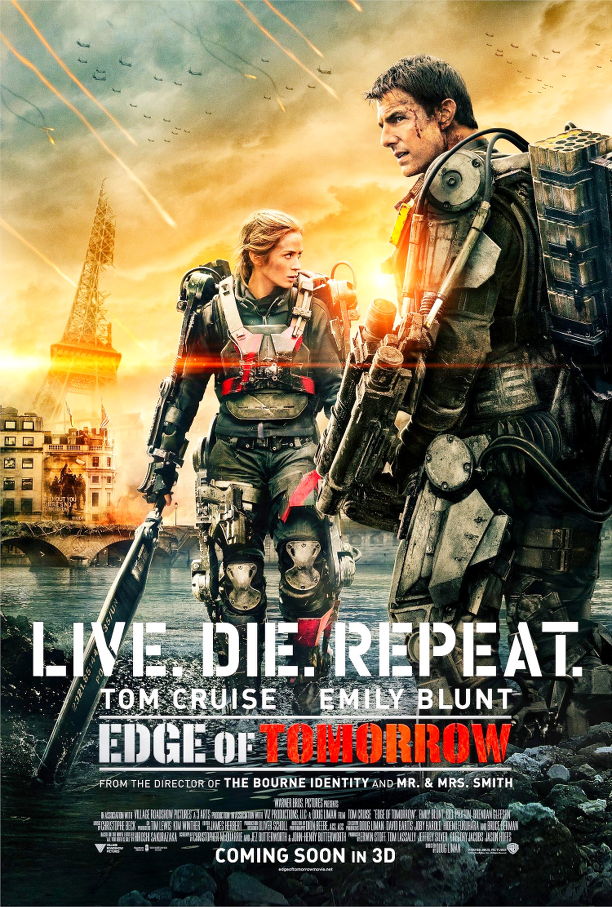 Edge of tomorrow, All you need is kill, Tom Cruise, Emily Blunt, cinema, recensione, fantascienza, azione, film, loop, loop temporale, nerdParty, nerd party, William Cage, Rita Vrataski, manga,