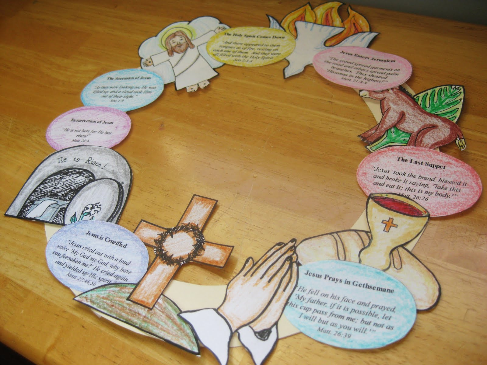 Of An Easter Story Wreath Please Feel Free To Print As Many You Like There Are Three Documents 2 Image Docs And One Scripture Egg Doc