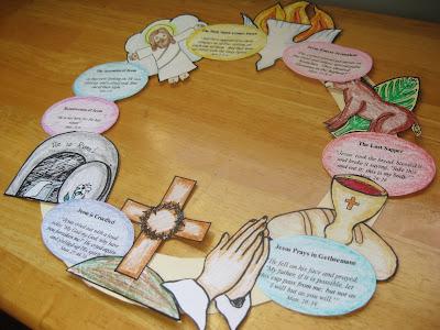 Familia Católica: Corona de papel para Semana Santa y Pascua ...