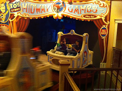 Toy Story Midway Mania Disney California Adventure vehicles ride